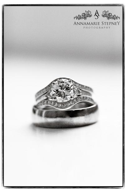 Creative diamond wedding ring shot