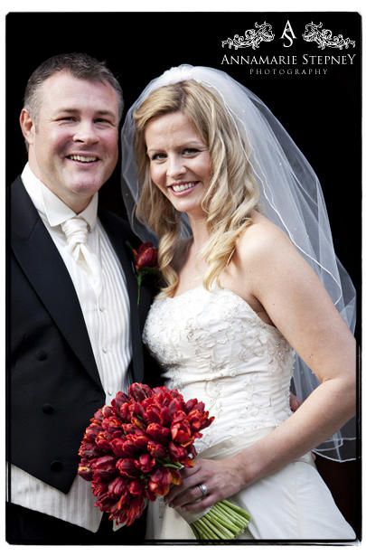 Portraiture shot of bride and groom