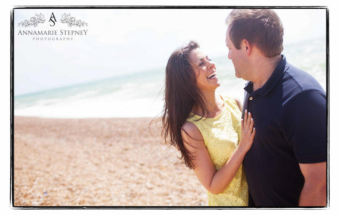 Hove Beach Engagement Shoot, Creative Photographer Annamarie Stepney