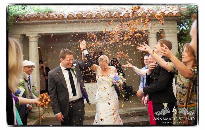 Confetti shot ~ The House Meadow Kent Wedding