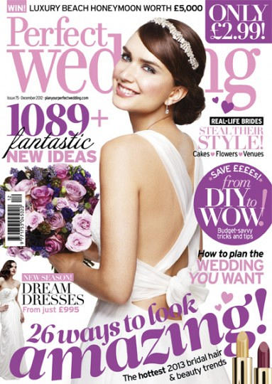 Front Cover of Lemore Manor Herefordshire Wedding Feature in Perfect Wedding Magazine ~ Annamarie Stepney Photography