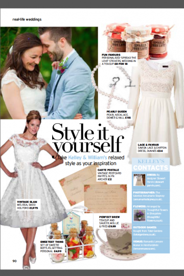 Lemore Manor Wedding Feature in Perfect Wedding Magazine ~ Annamarie Stepney Photography