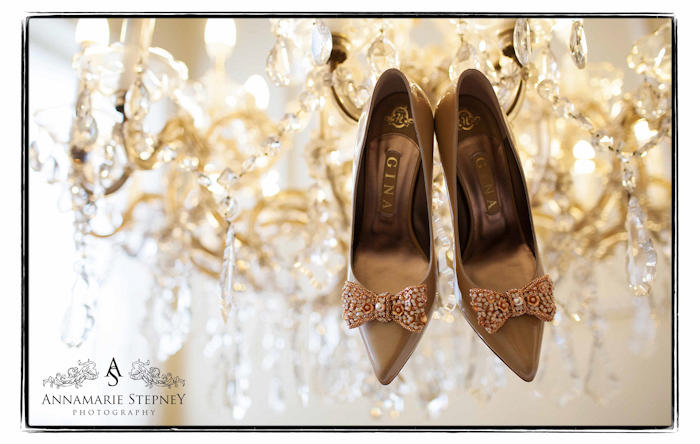 Creative Wedding Shoe Photography at Buxted Park by Annamarie Stepney