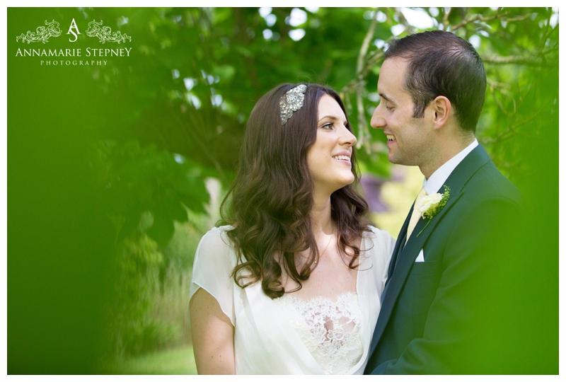 Creative Portrait shot of newly weds at Elvetham Hotel Wedding ~ Annamarie Stepney Photography